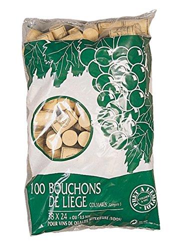 Duhalle 2005 Set de 100 Bouchons Colmaté s Liè ge 33 x 24 x 10 cm