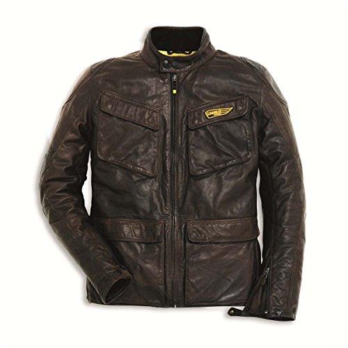 Ducati Men's Scrambler Quattrotasche Leather Jacket 52