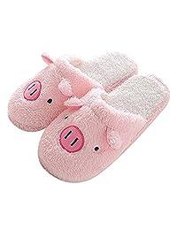 House Indoor slippers Cute Pig Terry Slipper for Women Men Non-slip