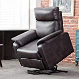 Harper&Bright Designs Leisure Power Lift Recliner Chair with Built-in Remote (Brown) For Sale