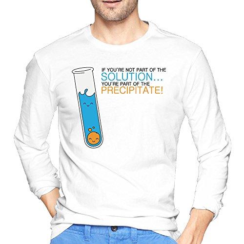 Men Pretty Chemistry Part Of The Precipitate Cotton Crew Neck Tshirt