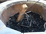 Outdoor Fire Pit Grate, Patio Firepit Grate, Firewood Log Stand – Less Smoke Review