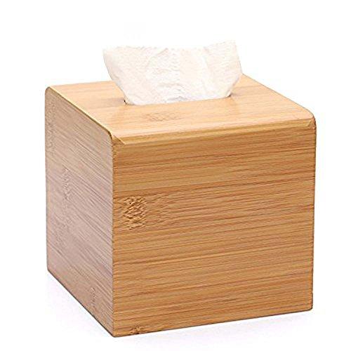 Un estilo caja de toalla de papel de bambú Simple cuadrada de almacenamiento Caja de pañuelos hogar mesa servilleta bombeo Cajas decoración de hogar Hotel XCX