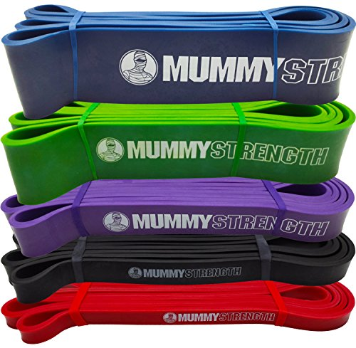 MummyStrength-Pull-Up-Assist-Band-Stretch-Resistance-Pull-up-Mobility-Bands-Perfect-For-Pull-ups-Chin-ups-Powerlifting-Works-with-Any-Pullup-Bar-or-Station-Digital-How-To-Guide-SINGLE-BAND
