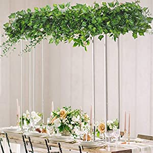 HAODOU 84 Feet 12 Strands Artificial Ivy Leaf Plants Vine Hanging Garland Fake Foliage Flowers for Wedding Party Garden Outdoor Office Wall Decoration 4