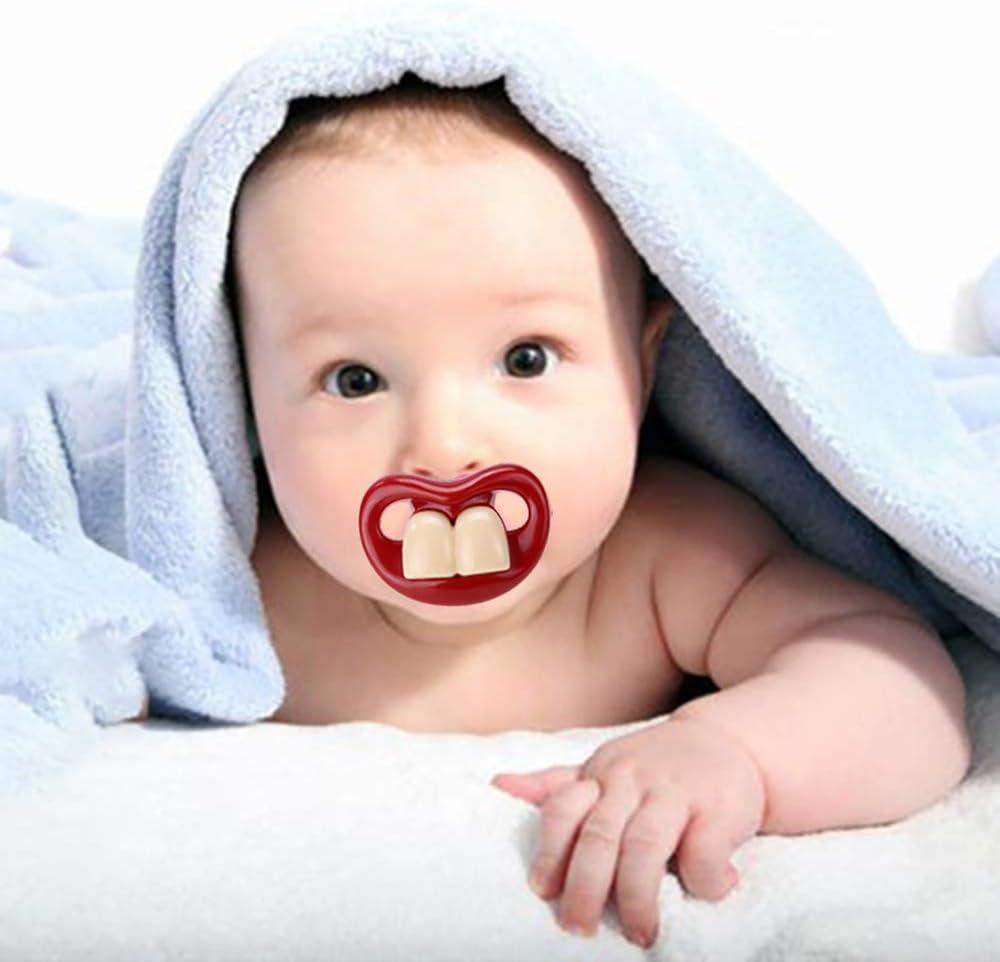 Sunsbell Chupete ABS Silicona Pezón Bebé Bromista Chupete Chupete Mordedores Novedad Dientes Niños Niño Chupete: Amazon.es: Hogar