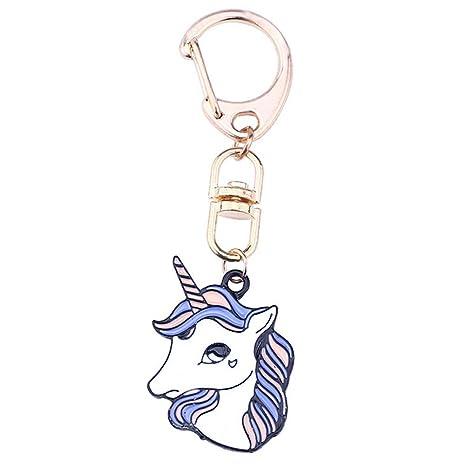 Qinlee Unicornio Llavero Dibujos Animados Animales Llave ...