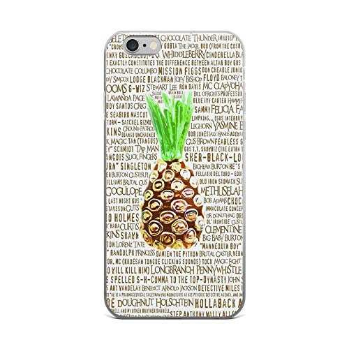 iPhone 6 Plus/iPhone 6s Plus Case Clear Anti-Scratch Psych Burton Guster Nicknames - Television Show Pineapple Room Decorative TV Pop Culture Cover Phone Cases for iPhone 6 Plus iPhone 6s Plus
