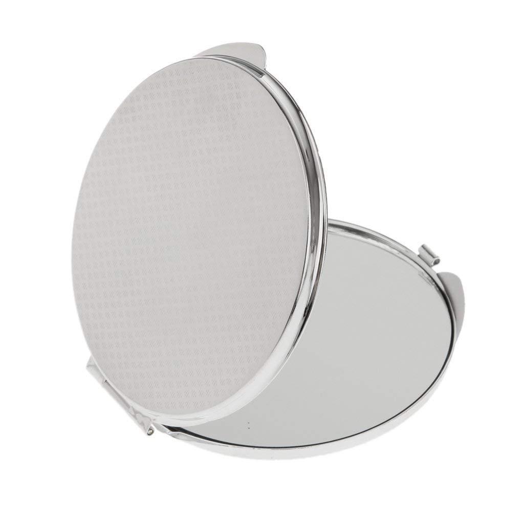 TOOGOO Miroir de poche Pliable Cosmetique Compact Miroir de Maquillage - Argent