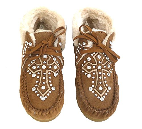 montana-west-womens-ankle-boots-moccasins-spiritual-collection-cross-brown-8