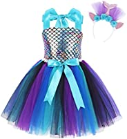 HenzWorld Girls Dress Princess Unicorn Tutu Flower Wedding Birthday Party Halloween Outfit Pageant Dresses