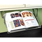Under Cabinet Mounted Cookbook Holder - Acrylic - Made in the USA