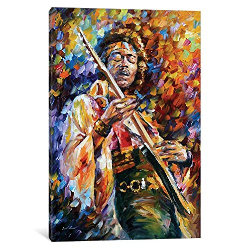 iCanvasART iCanvas Jimi Hendrix Gallery Wrapped Canvas Art Print by Leonid Afremov, 18