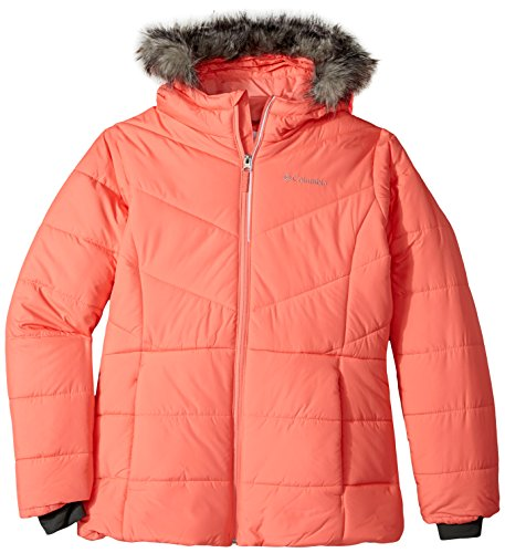Columbia Big Girls' Katelyn Crest Jacket, Hot Coral, X-Large - Snowboard Jacket Hot Coral