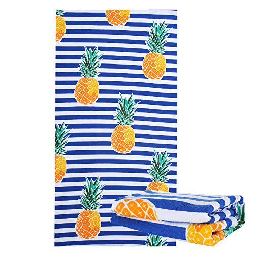 JuYA Microfiber Beach Towels - Oversized Beach Blanket Towel Portable Ultra Soft Super Water Absorbent Multi-Purpose Beach Throw Towel for Adults Girls Women Kids 30x 60 inch
