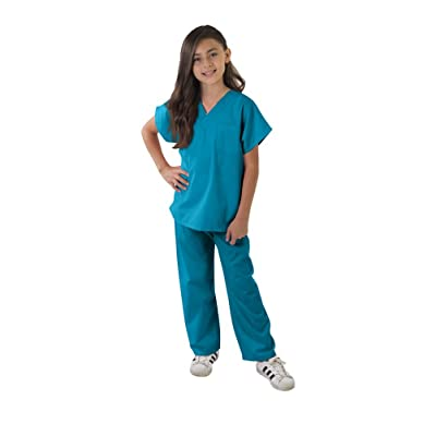 Kids Scrubs Super Soft Children Scrub Set Kids Doctor Dress up: Clothing