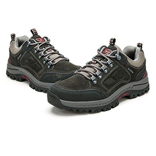 Hommes des Chaussures DHiver des Sports Chaussures Trekking de Plein Air Chaussures Chaud Doublé Bottes Baskets Bottes de Marche Antidérapant Bottes avec Laçage Gris, Vert, Kaki 39-44