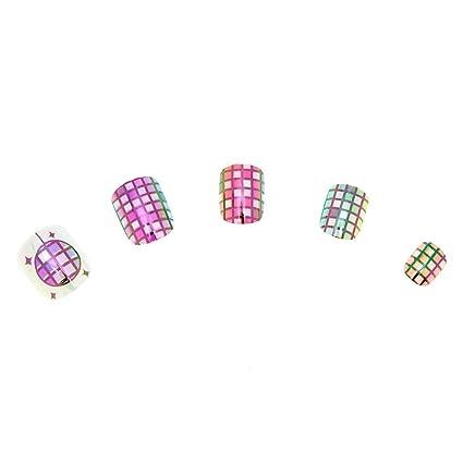 Amazon.com: Claires s Girl - Juego de 24 uñas, diseño de ...