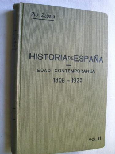 HISTORIA DE ESPAÑA. Edad Contemporanea 1808-1923 2 Tomos: Amazon ...