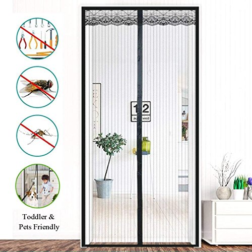 Juboury Magnetic Screen Door with Heavy Duty Me...
