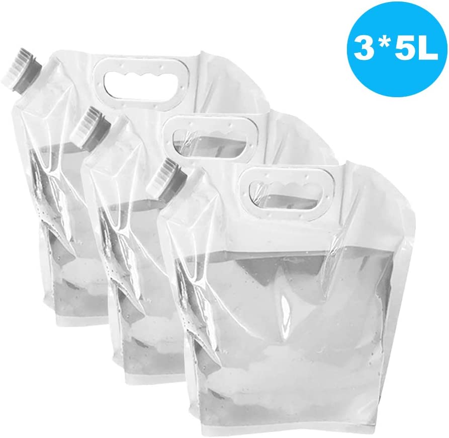Ellsang Collapsible Water Tank Container Bag, BPA Free Outdoor Folding Water Storage Carrier for Backpacking Camping Hiking Picnic BBQ Hurricane Flood Earthquake Emergencies