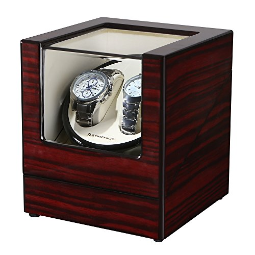 SONGMICS Double Watch Winder with Quiet Japanese Mabuchi Motor UJWW11RD