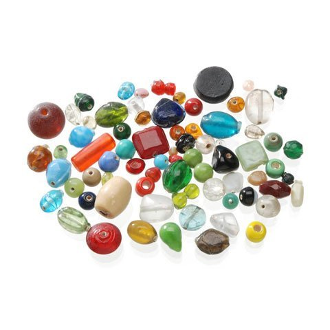 Bulk Buy: Darice DIY Crafts 1 lb Glass Beads Assorted Shapes, Colors and Sizes (3-Pack) (Cocoa Glass)