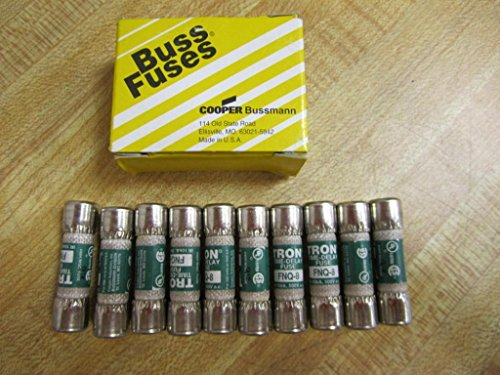 Bussmann FNQ-8 Tron FNQ8 Time Delay Fuse Cooper (Pack of 10) by Bussmann