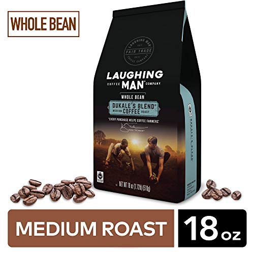 Laughing Man Dukale's Blend, Whole Bean Coffee, Medium Roast, Bagged 18 oz