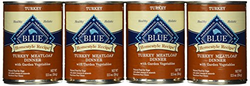 Blue Buffalo Homestyle Recipe Turkey Meatloaf Dinner Canned Dog Food (Pack of 12 12.5-Ounce Cans)