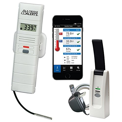 La Crosse Technology 926-25102-PET La Crosse Alerts 926-25102-PET Aquarium Monitoring System with Wet Probe for Early Warning Alerts & Wireless mobility