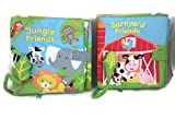 #6: Nat And Jules Book With Sound Bundle; 2 Items: Jungle Friends, Barnyard Friends
