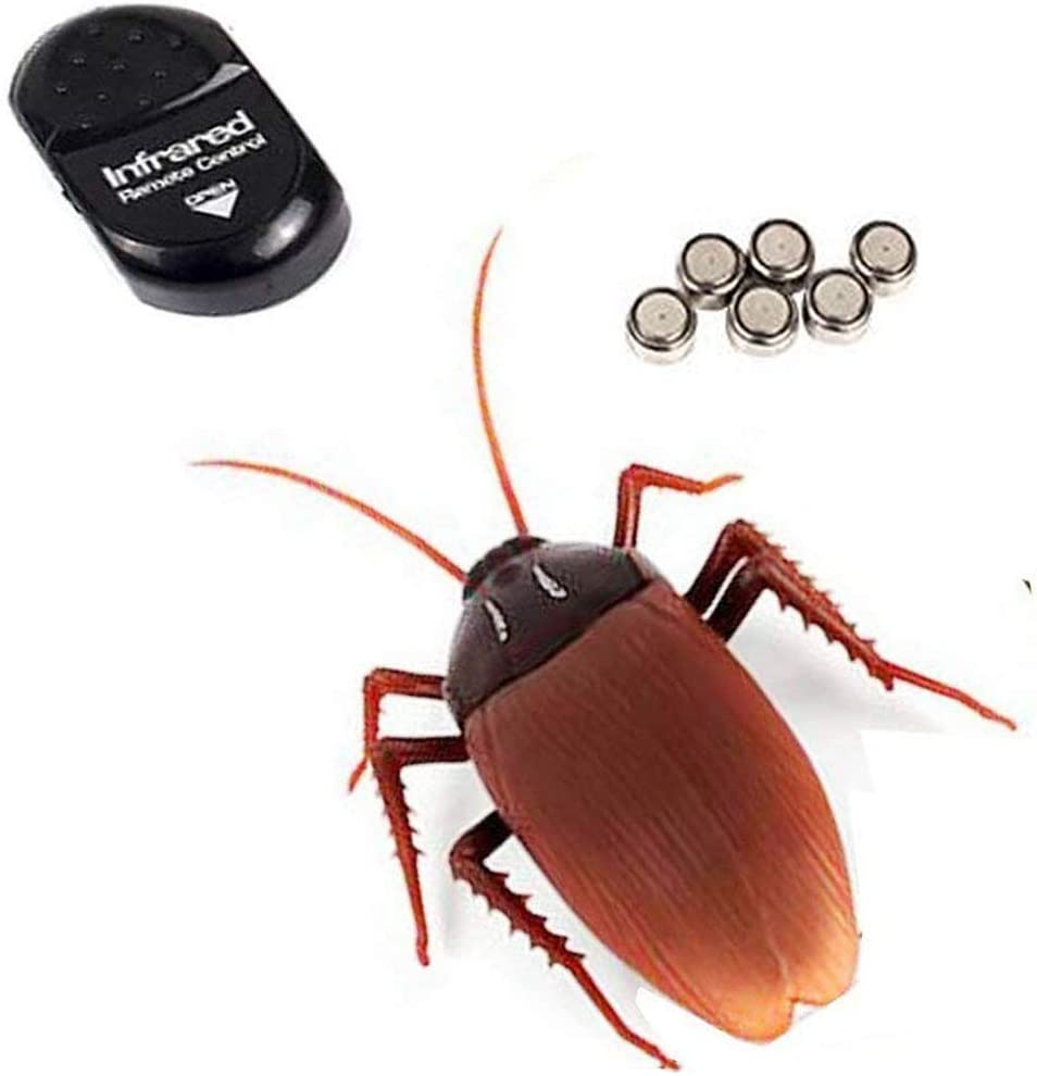 NiGHT LiONS TECH Novelty Emulational Remote Control cockroach Animal Toy Funny toy For Christmas
