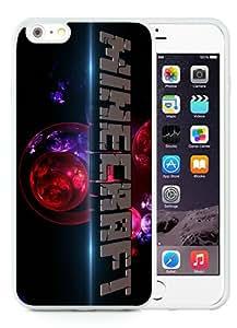 Personalized Custom Picture iPhone 6 plus,minecraft White iPhone 6 plus 5.5 Inch TPU Custom Picture Phone Case