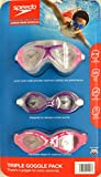 SpeedoUSA Junior Goggle Set Pink Purple, 3 Pack, Ages 6-14