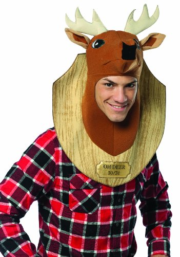 Rasta Imposta Trophy Head Deer, Brown, Standard (Quick Mens Halloween Costumes)