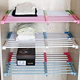 Adjustable Storage Rack Shelf for Kithchen Cupboard Refrigerator Wardrobe Bookcase Compartment Collecting