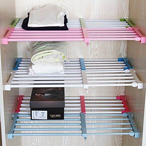 Adjustable Storage Rack Shelf for Kithchen Cupboard Refrigerator Wardrobe Bookcase Compartment (Adjustable Side Shelf)