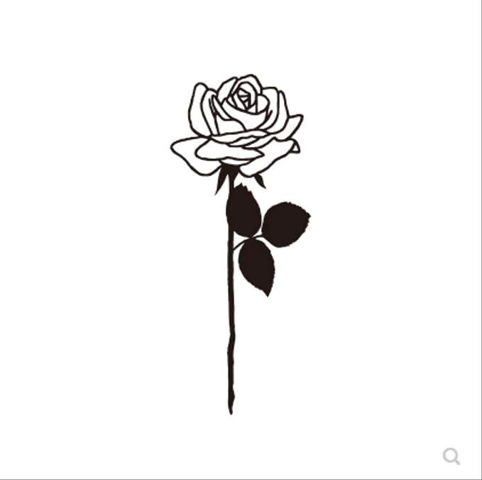 LNNHJB Línea Oscura Rosa Tatuaje Pasta Impermeable Flor Brazo ...