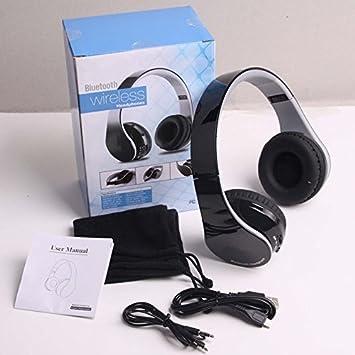hccolo auricular plegable con cancelación de ruido estéreo de alta fidelidad manos libres inalámbrico con Bluetooth para teléfonos inteligentes y tabletas: ...