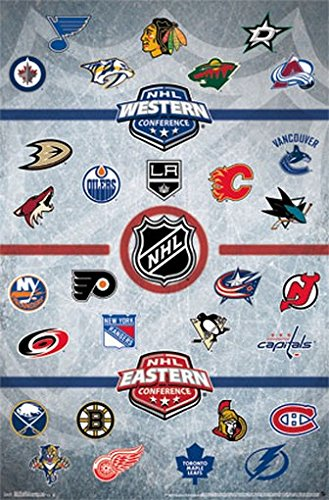 Nhl Team Logos - NHL LOGOS POSTER Amazing Collage RARE HOT NEW 22x34