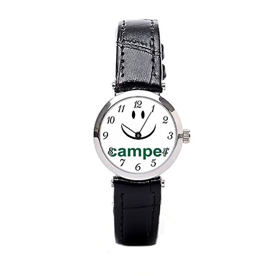 Smile té piel banda relojes para mujer barato divertido GAG reloj de pulsera para las mujeres