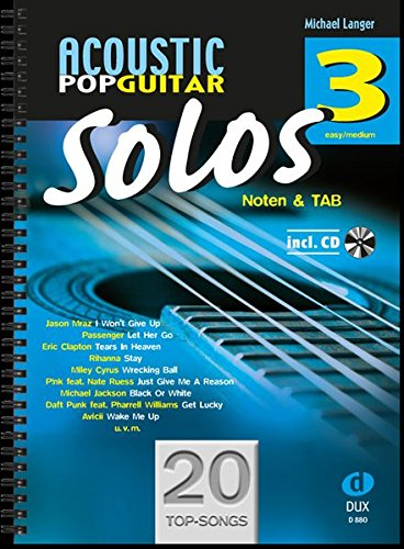 Acoustic Pop Guitar Solos 3: Noten & TAB - easy/medium