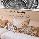 inspiring nfl wall decals Vinyl Wall Decal Inspiring Family Wall Quote Love Family Quote for Home Vinyl Decal Phrase Life Quote Decal Lettering- MM43