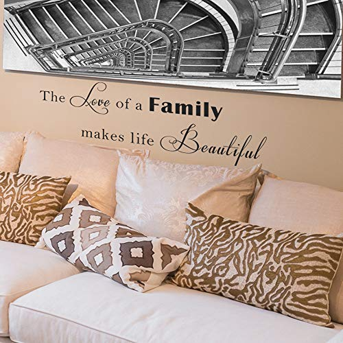 Vinyl Wall Decal Inspiring Family Wall Quote Love Family Quote for Home Vinyl Decal Phrase Life Quote Decal Lettering- MM43