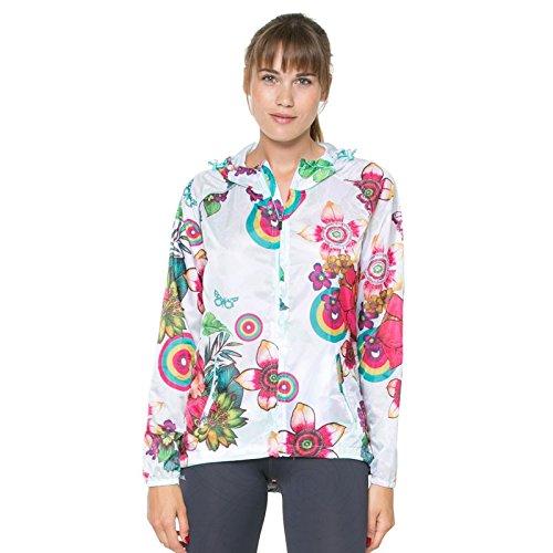 Desigual Women's White Blow Jacket, Nata, Large