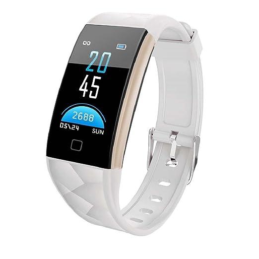 QUICKLYLY Pulsera Actividad,Inteligente con Pulsómetro Cardíaco Monitor para Mujer Hombre Impermeable IP67 Reloj Fitness