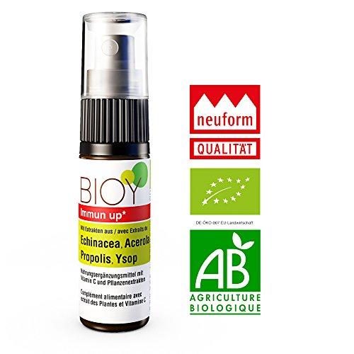 BIOY Immun up Halsspray zur Stärkung der Abwehrkräfte. Mit Echinacea, Propolis und Acerola -DE-ÖKO-007