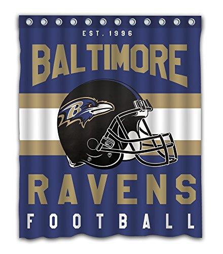Ravens Baltimore Shower Curtain - Sonaby Custom Baltimore Ravens Waterproof Fabric Shower Curtain For Bathroom Decoration (60x72 Inches)