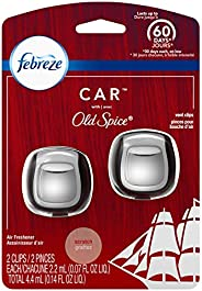 Febreze Car Air Freshener Vent Clips, Original Old Spice Scent, 2 Count